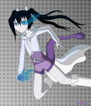 SSBA: Black Rock Shooter as Mewtwo by Apkinesis