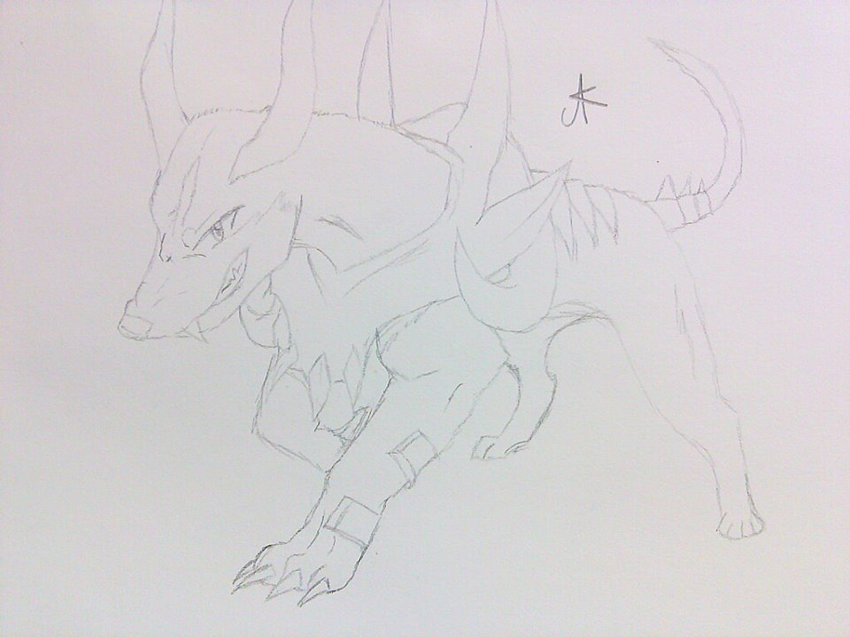 Houndoom by siktoxicwolfgirl