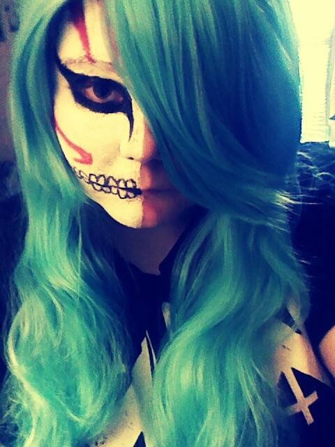 Halloween Makeup by siktoxicwolfgirl