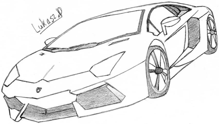 Aventador pencil coloring pages for Lamborghini aventador coloring pages