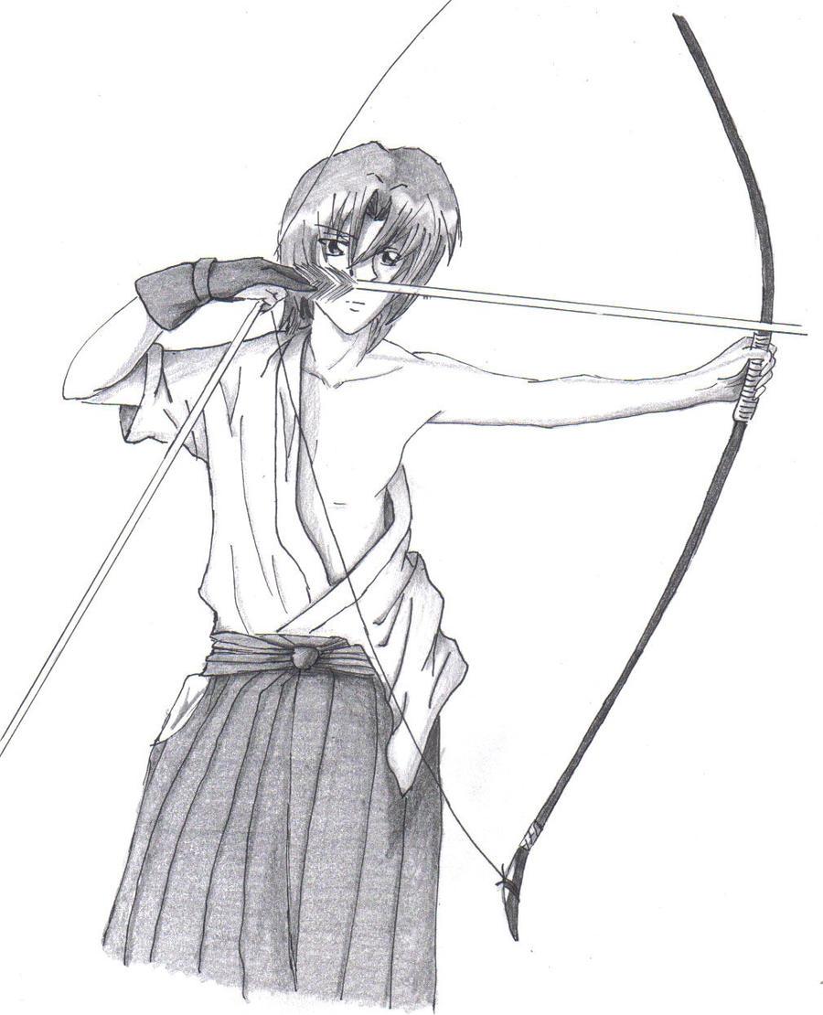 anime archer by elvishshadowarcher on deviantart