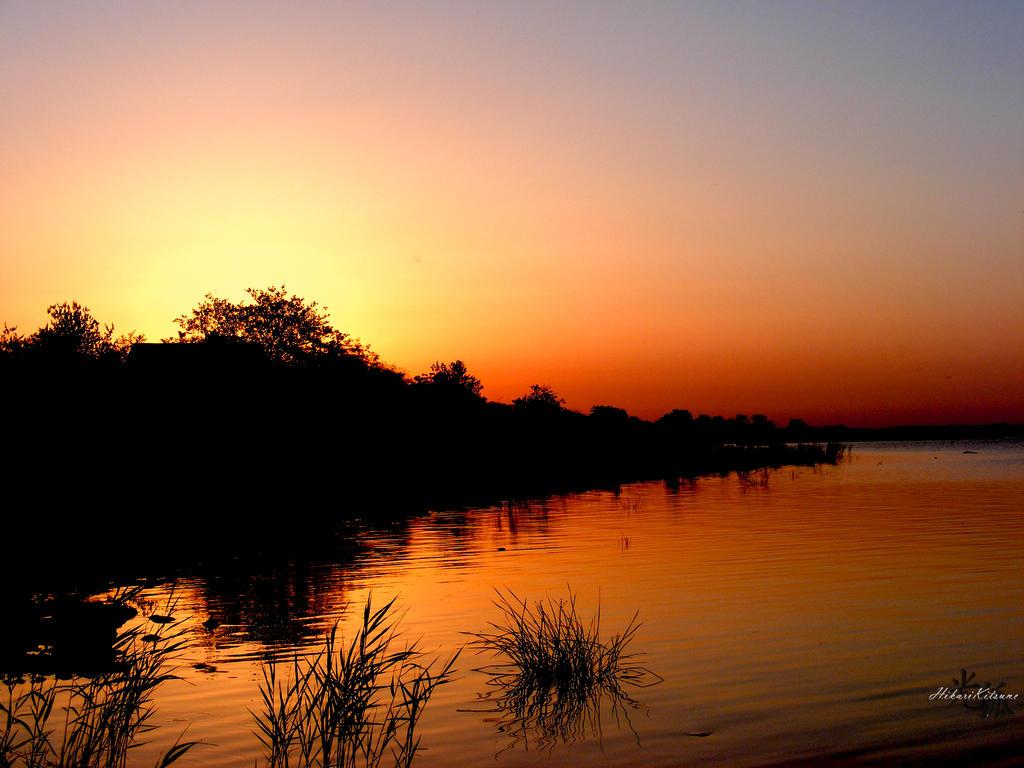 Lake sunset by MistVampireHikari