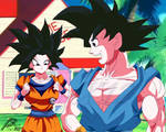 Goku(master) And Caulifla(Remake)