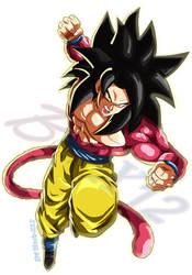 Goku ssj4(FighterZ style)(Fanmade)V3 by Black-X12