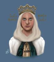Isabel I de Castilla by hnl