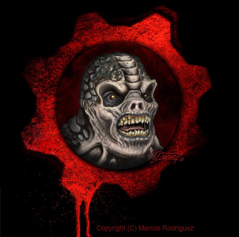 Locust Gears Of War By Magmarc On Deviantart