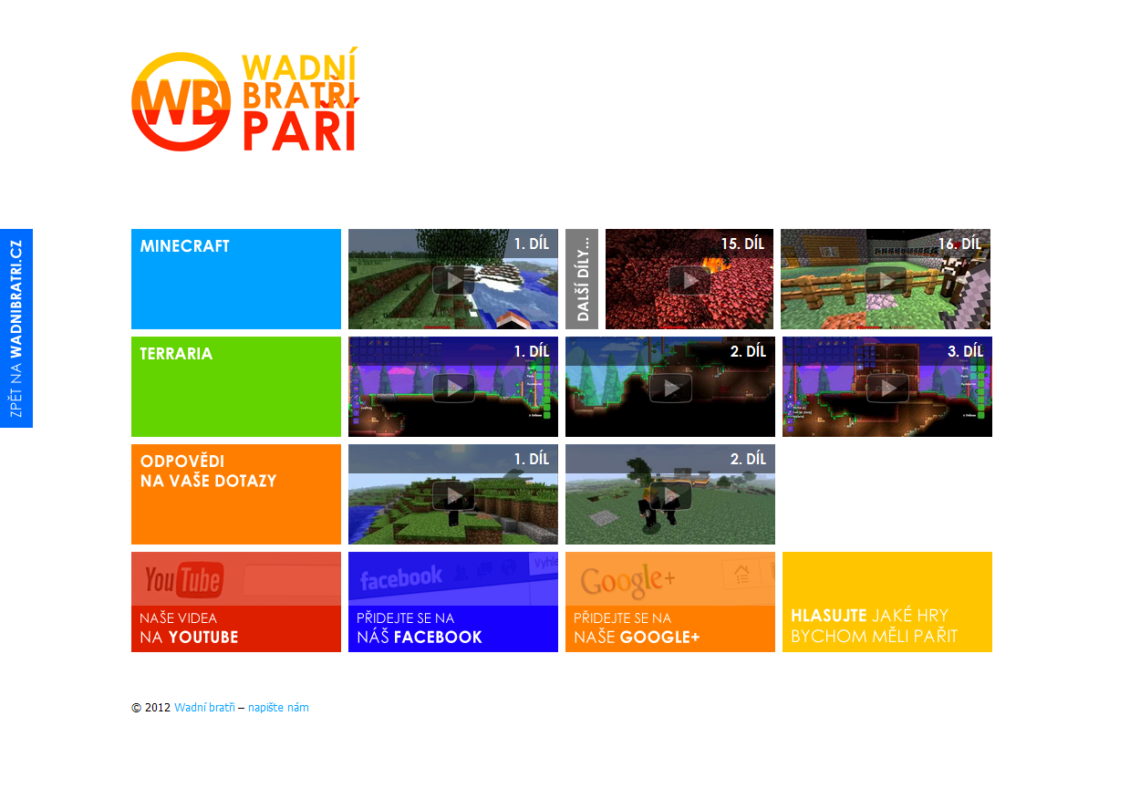 Wadni bratri pari 2012 website by FutureMillennium