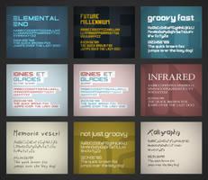 New font previews by FutureMillennium