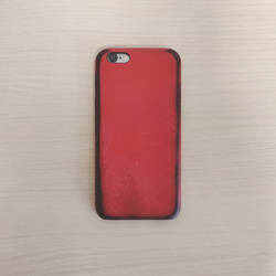 iPhone 6 red leather case by FutureMillennium