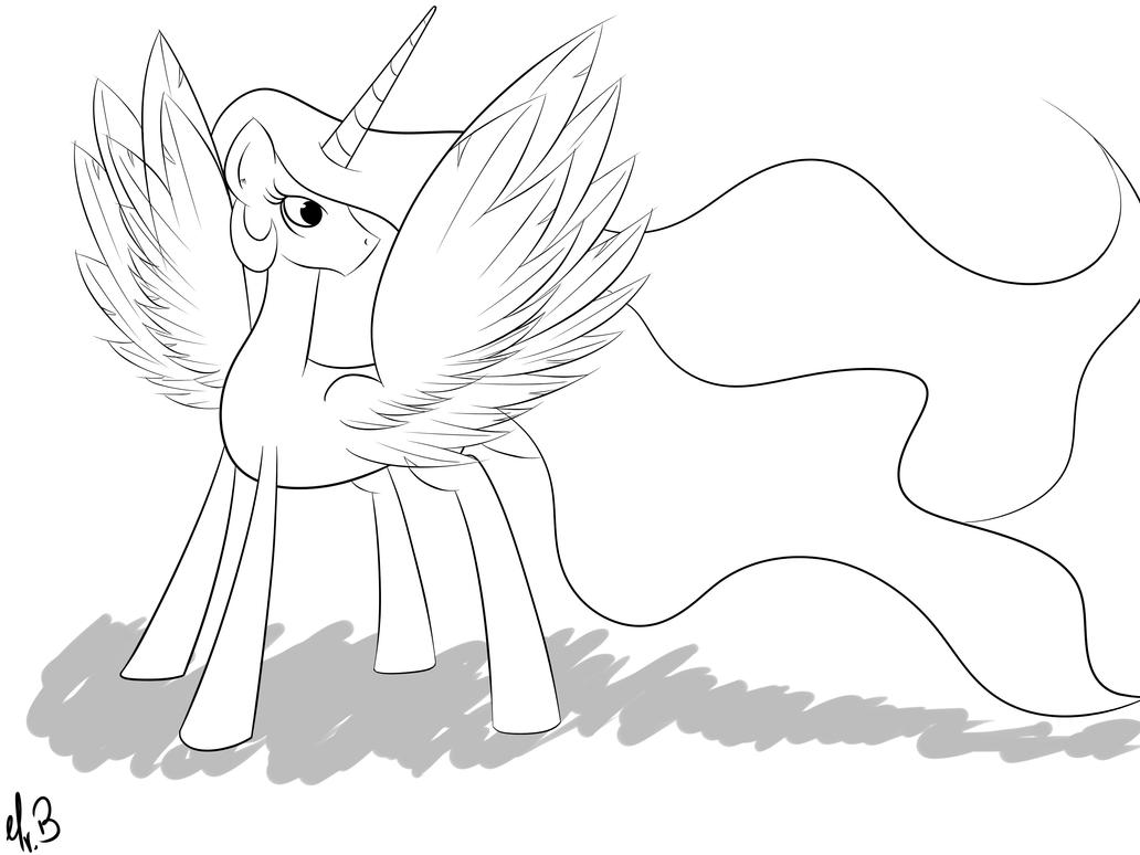 Princess Celestia by greseres