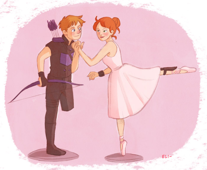 A soldier and a ballerina by elivi
