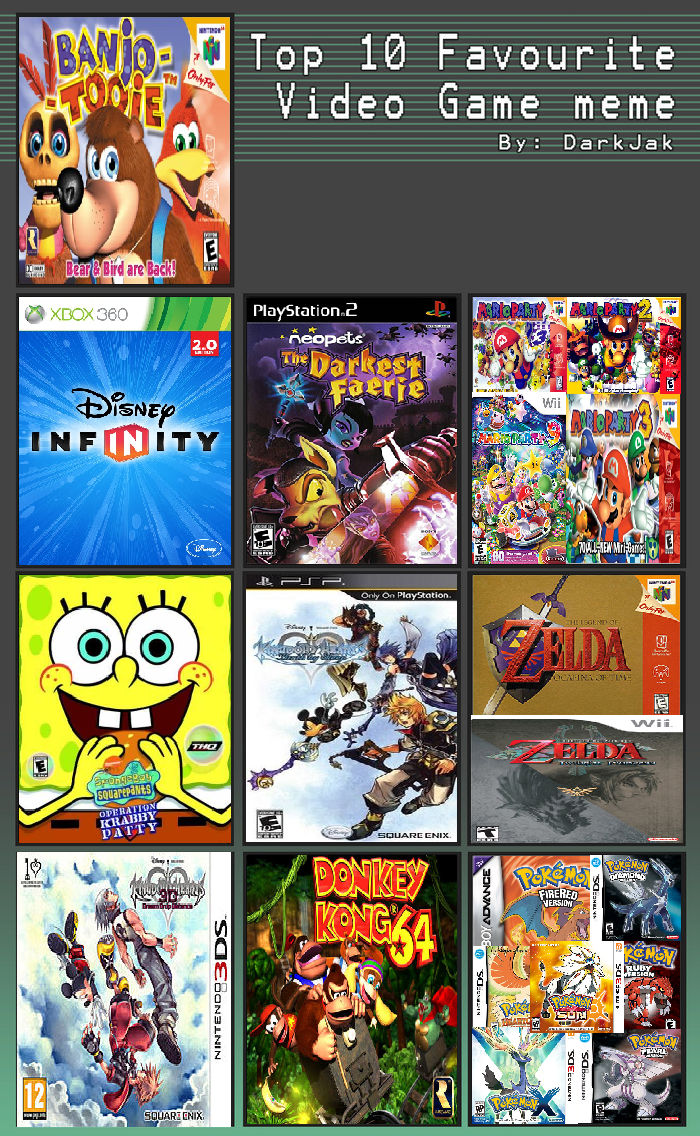 List of My Favourite Video Games by BlackWolfStar15 on
