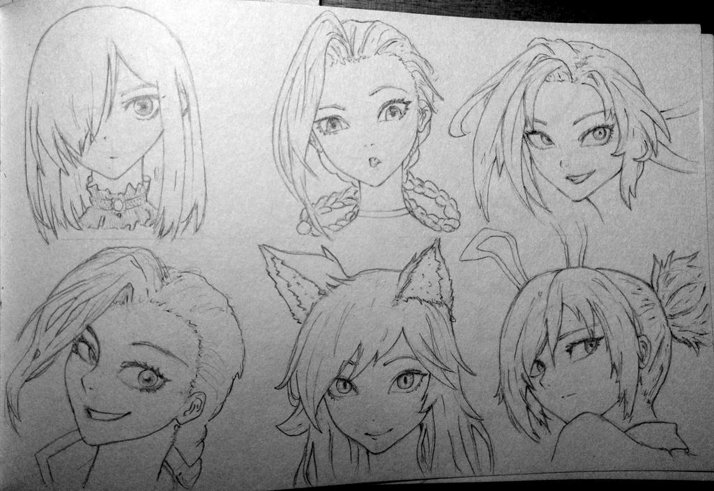 Faces sketch by Doozel