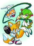 Tails adventure 2 colours by puppykitty
