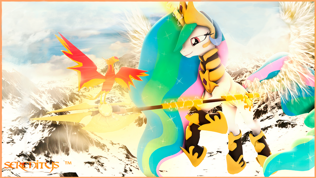 Princess Celestia: In the icy mountains by SerenitysArtwork