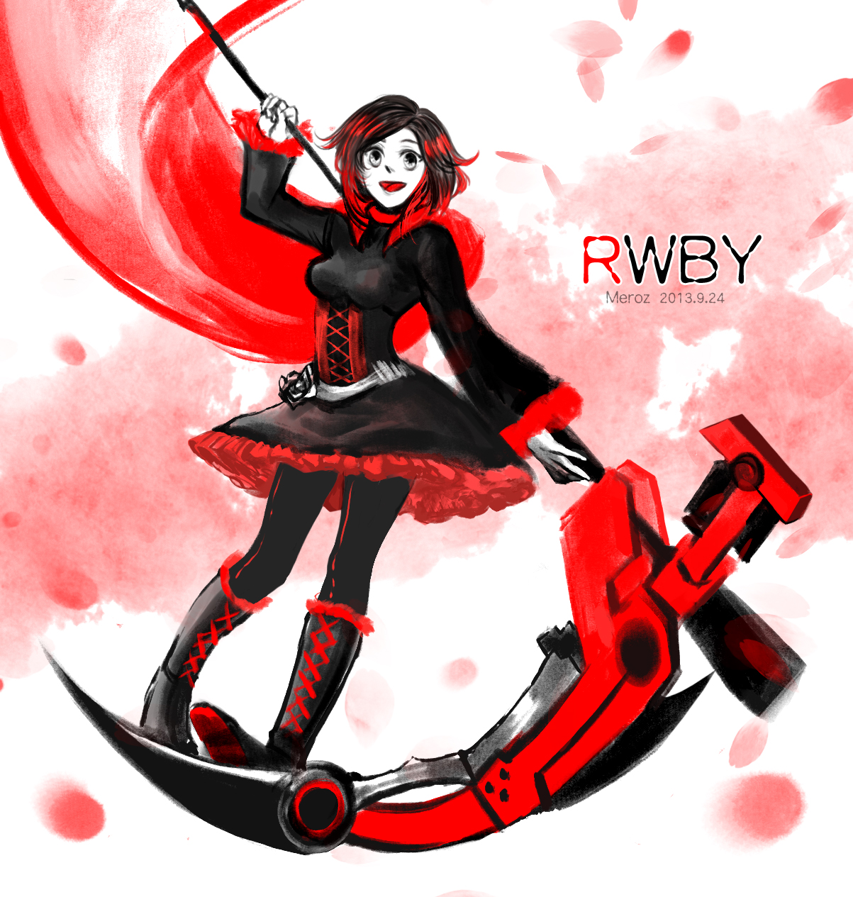 Rwby ruby rose by mengluoli on deviantart - Rwby ruby rose fanart ...