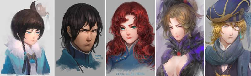 Character portrait sketch
