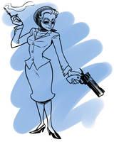 TF2 Genderswap: Spy by jinxville