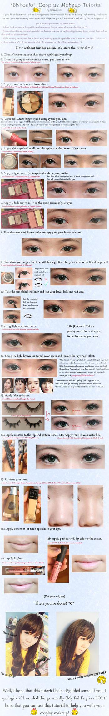 Bishoujo Makeup Tutorial by ricecake000