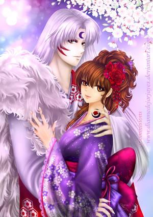 Commissions 5: Sesshoumaru x Rin-Dearest by DianneDejarjayes