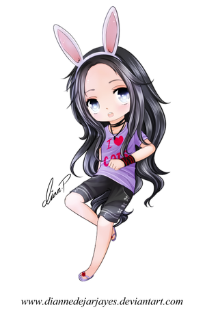 Purple bunny by DianneDejarjayes