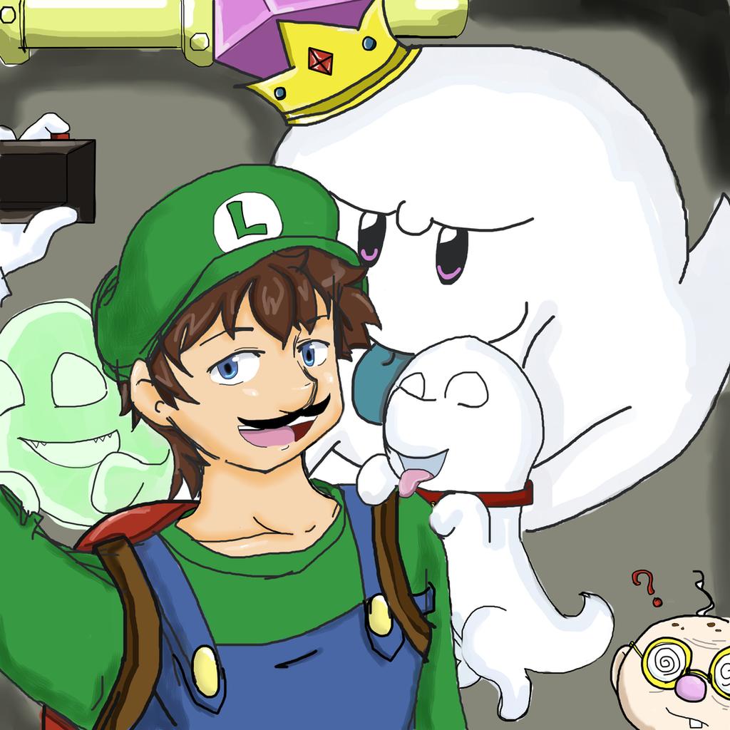 Luigi- say ectoplasm  by 12luigi