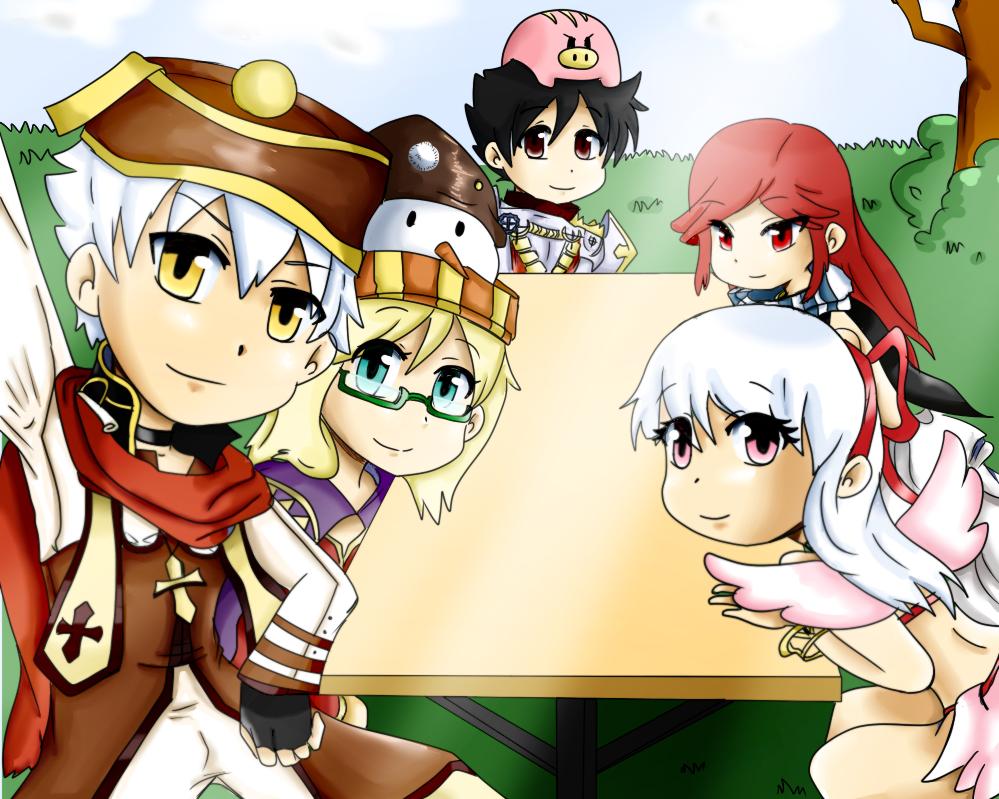 Me and my friends in ragnarok by 12luigi