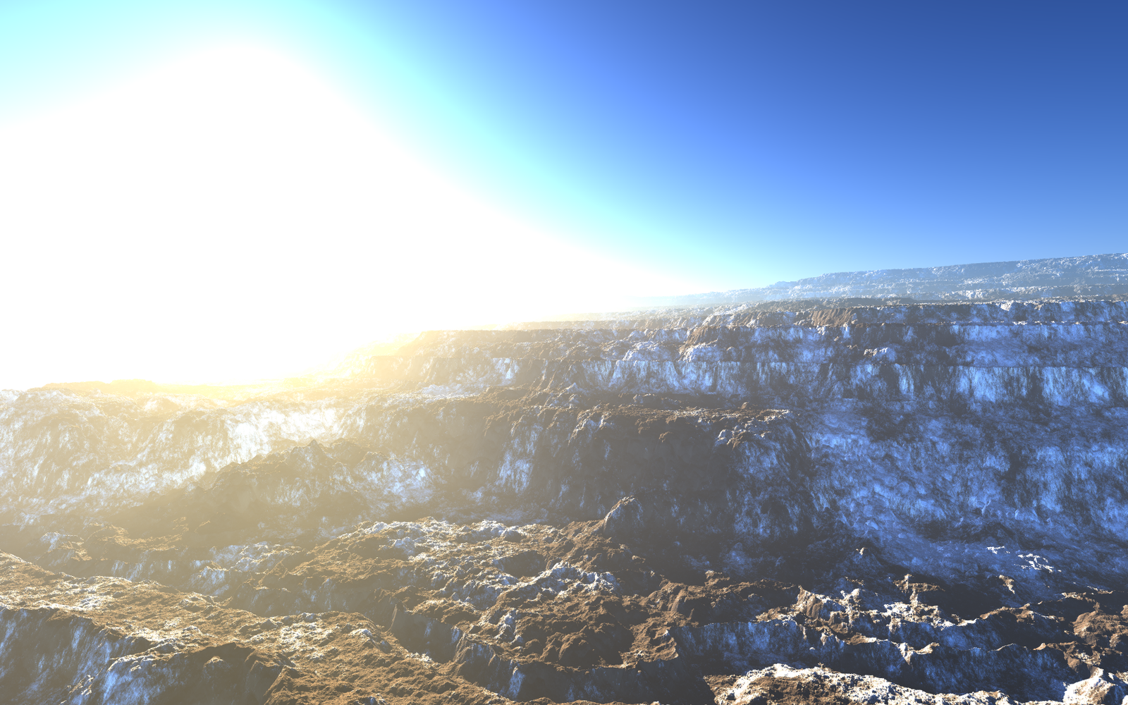 A canyon landscape with snow. by greenhybrid
