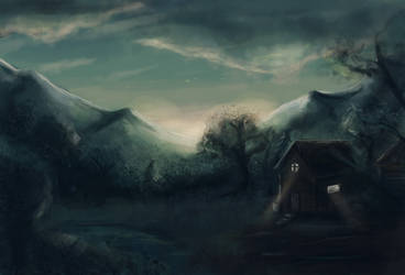 Twilight cabin by calthyechild