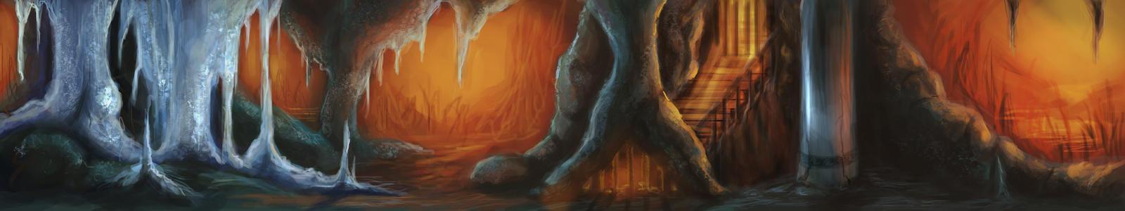 Underground Cavern by calthyechild