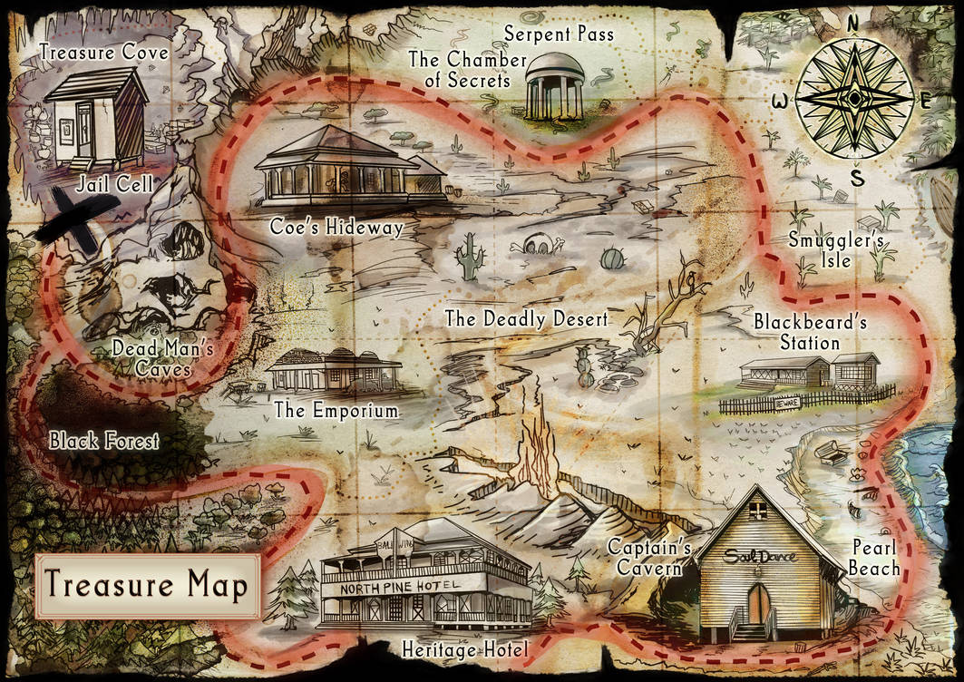 Treasure Map - Commission by calthyechild