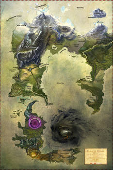 The World of Hymar Full Color Painting Cartography