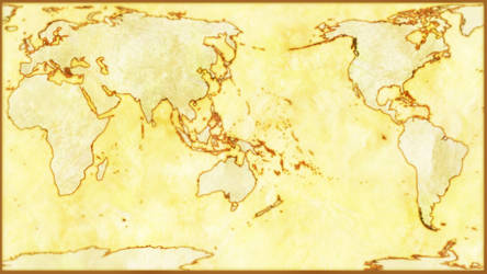 Parchment Pacific Center Robinson Map of Earth