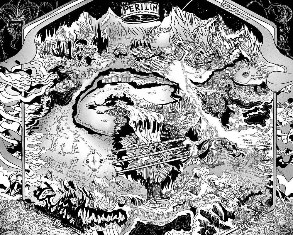 The Perilim - black and white hell dungeon