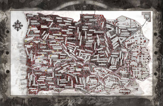 The Free Republic of Bayonne RPG city map VTM