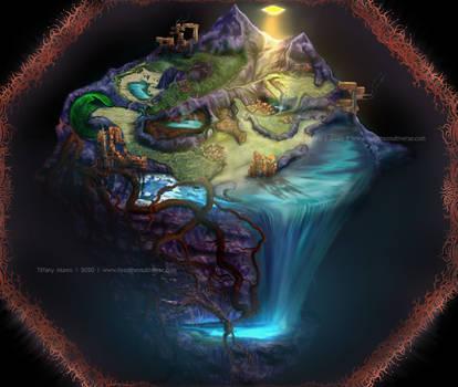 Magical Pyramid Island Microcosm Map