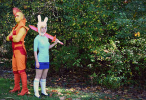 Adventure Time: Fionna and Flame Prince by thatsthatonegirl