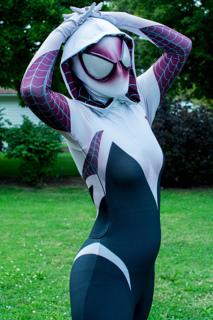 Gwen Stacy as Spider-Woman by thatsthatonegirl