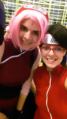 Mommy and Daughter Selfie (Sakura and Sarada)