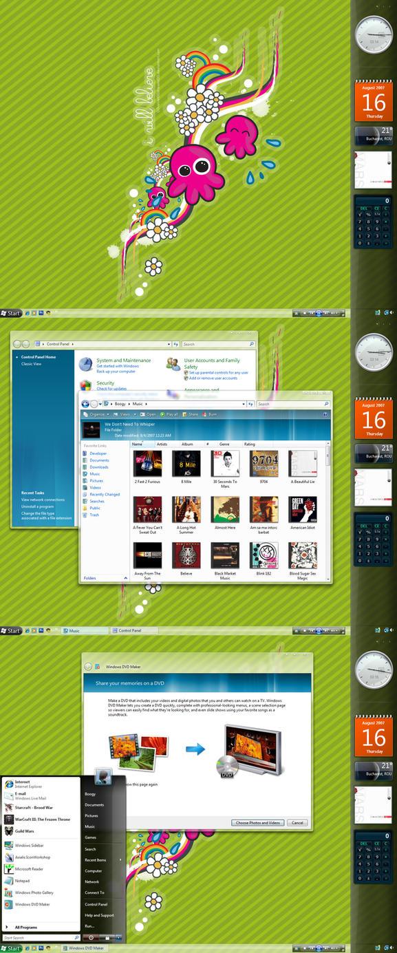 August Desktop - Stripes by bogo-d