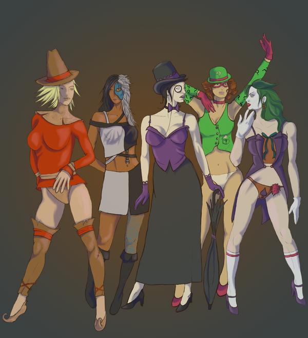 Batman Bad-girls group pic by PirateKiki