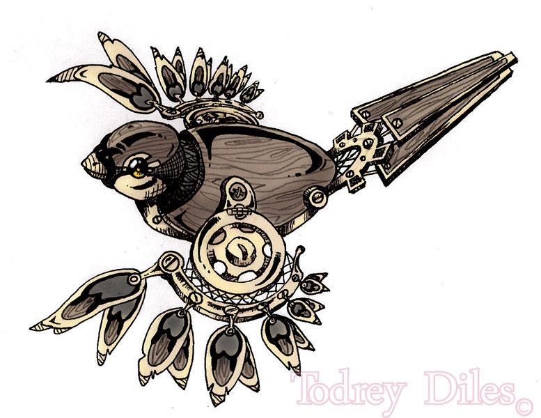 sparrow tattoo design by todrey on deviantart. Black Bedroom Furniture Sets. Home Design Ideas