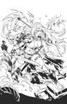 Red Sonja   Cover   Sketch - Inks