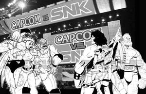 Capcom vs SNK Wrestler Collab