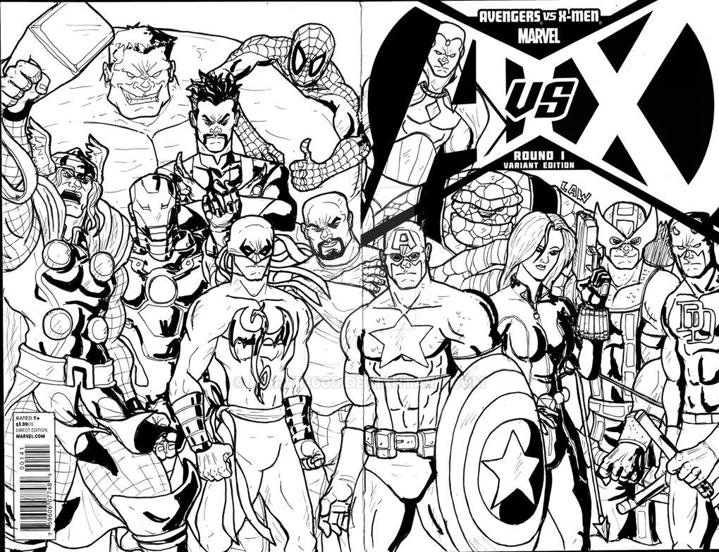 AvsX Avengers Sketch Cover by Marvin000 on DeviantArt