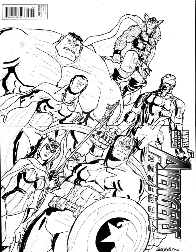 Avengers Sketch Cover By Marvin000 On DeviantArt