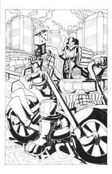 Judge Dredd in Mega City One by Marvin000