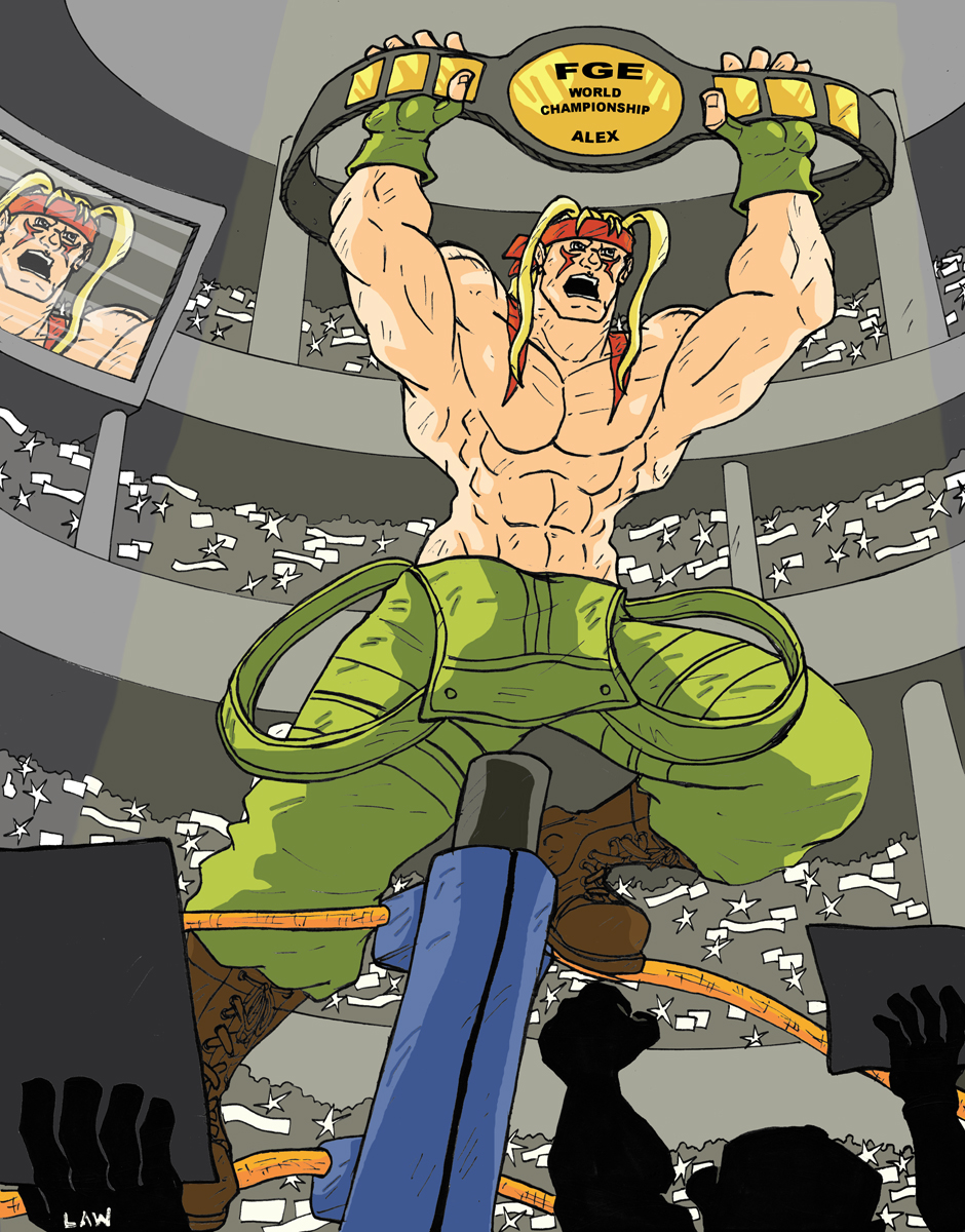 The FGE Project: Alex ( Street Fighter 3 ) by Marvin000