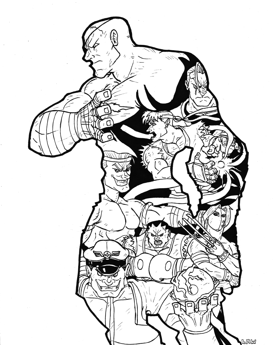 Big Traditional Art Contest: Sagat's History by Marvin000