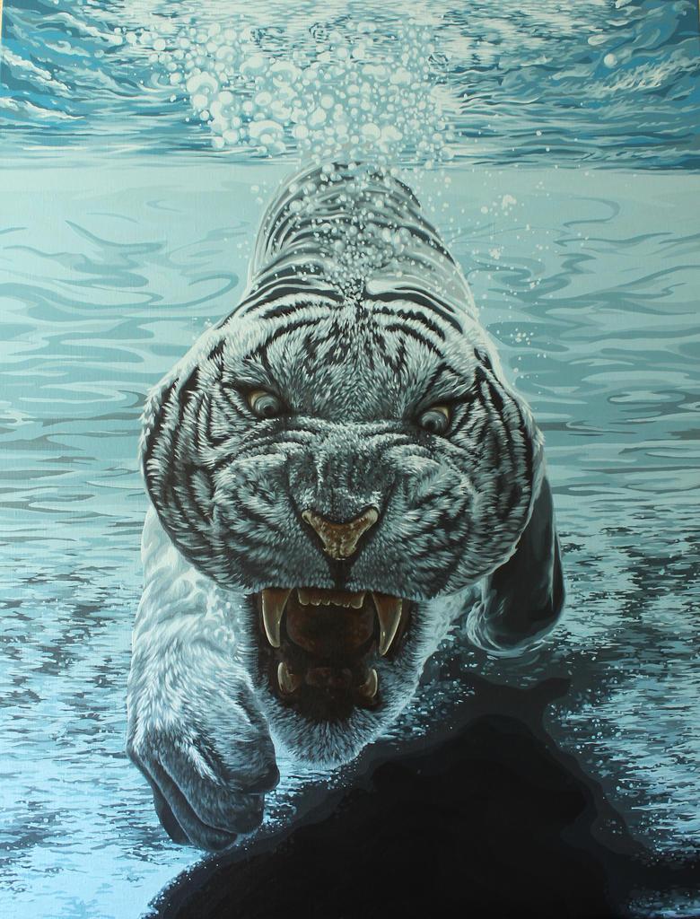 Underwater Tiger by IlseVerbeek